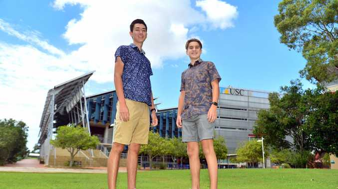 OP1 students Roi McGuinness, from Sunshine Coast Grammar, and Tom Rosenthal from Caloundra State High School.