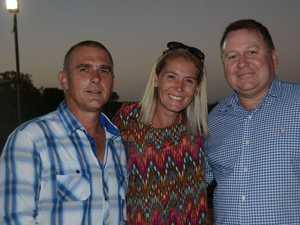Shane and Sarah Harvey with Paul Oram at Ironpot's