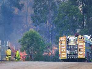 Firefighters on the scene in Ipswich