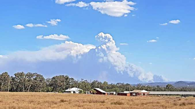 Kris Kotzas took this photo of the smoke looking from The Summit south to Wallangarra.