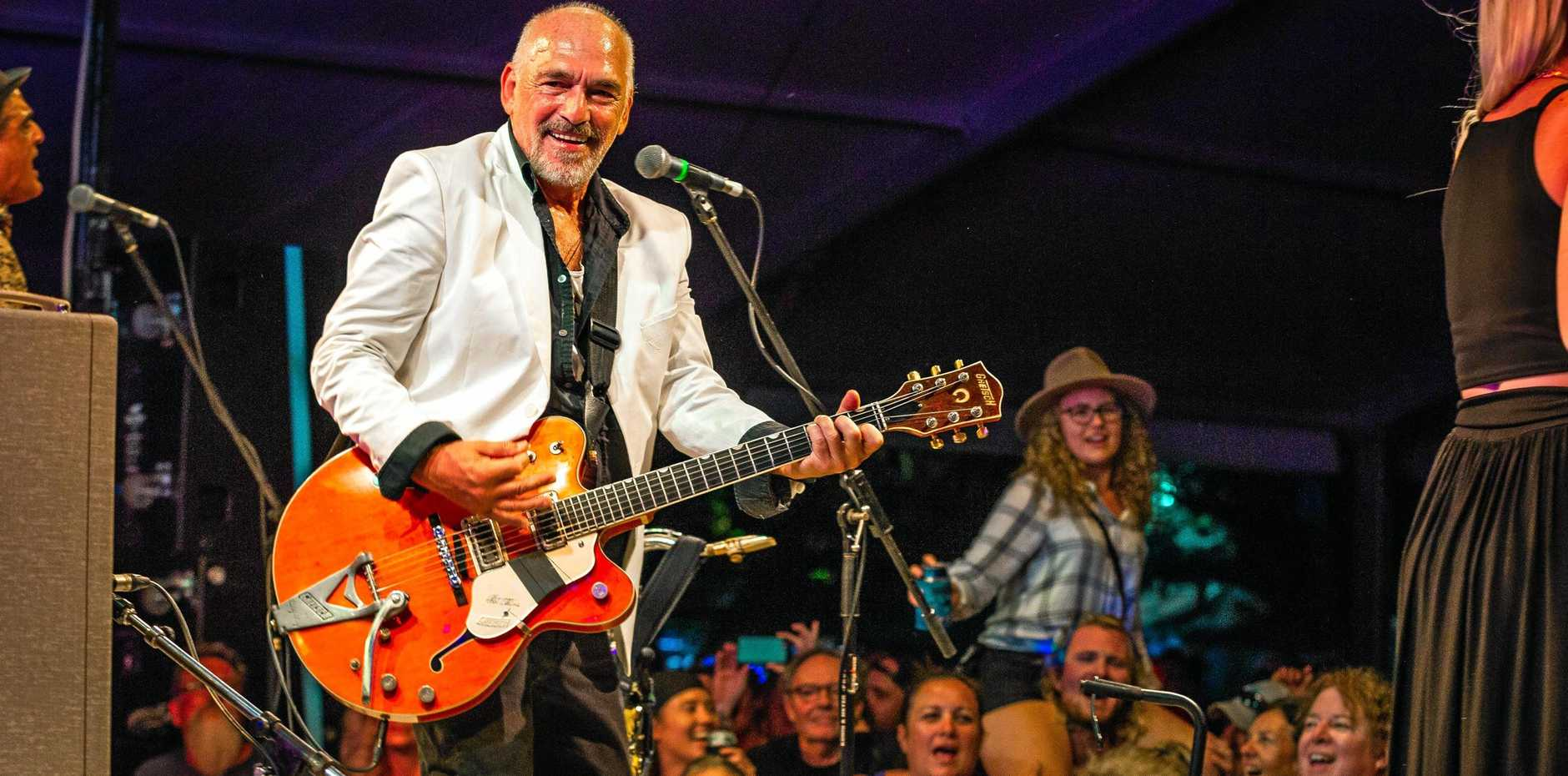 WORTHY HEADLINER: Blues favourite Joe Camilleri fronting The Black Sorrows for a breathtaking performance at Agnes Blues Roots and Rock Festival.