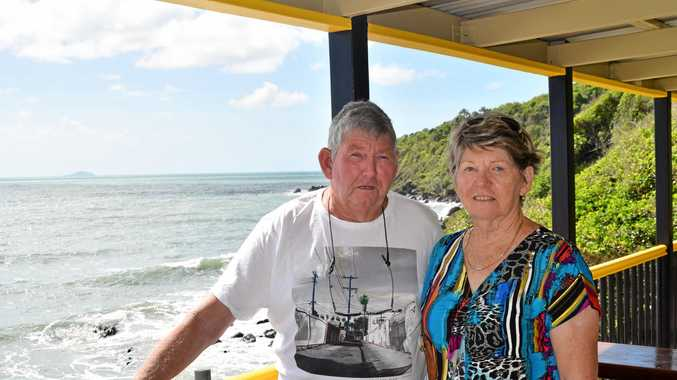 RECOVERING: Sarina Beach residents Hedley Hughes and Nola Turner attended a