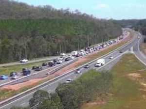 Grass fire near Bruce Highway adds to congestion woes