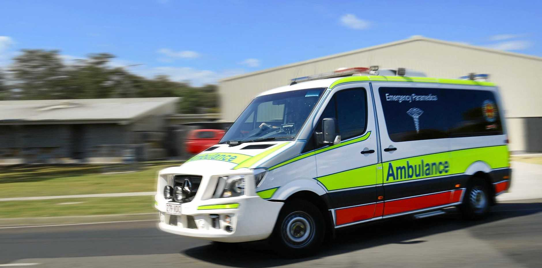 A four-year-old boy is being rushed to hospital in a serious condition after a near-drowning incident at Landsborough this afternoon.
