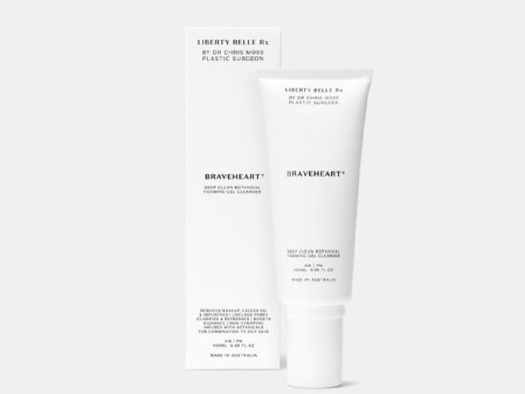 Liberty Belle Braveheart Cleanser is great for acne-prone skin.
