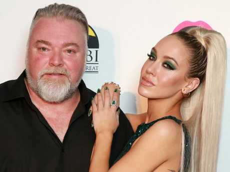 KIIS radio host Kyle Sandilands and his girlfriend Imogen Anthony.