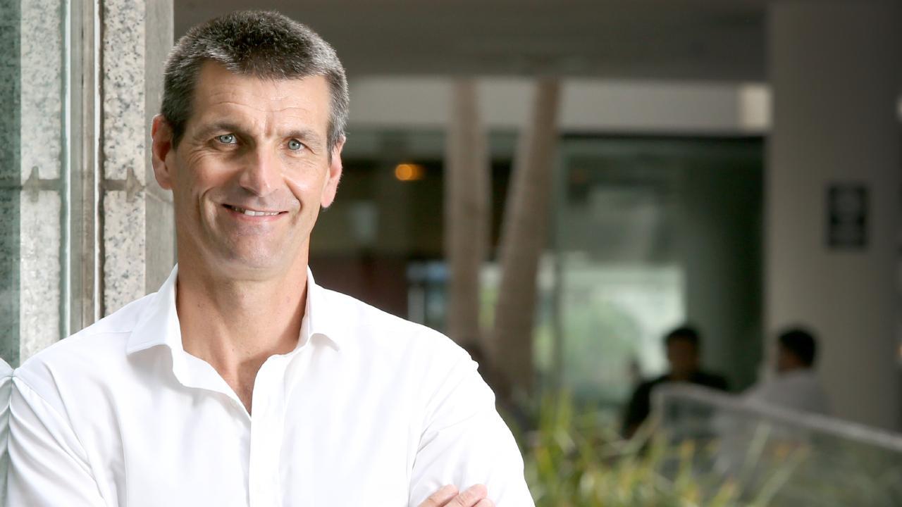 Martin Barrett, CEO of Auswide Bank. Pic Jono Searle.