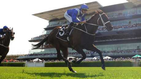 Winx ran the fastest 1400m of her career. Pic: AAP
