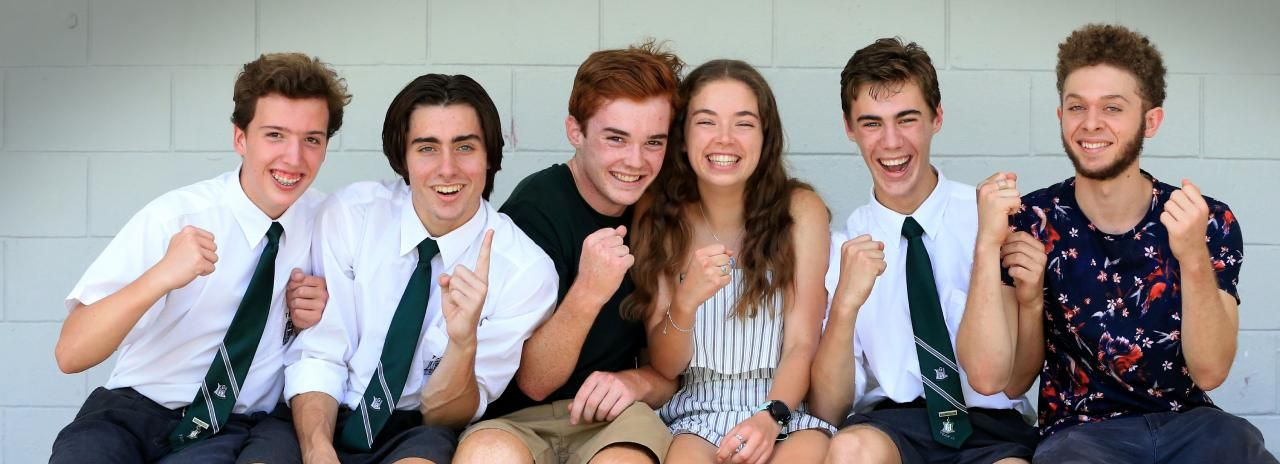 The Gap State High School has performed well in the 2018 OP results. Students Levi Hockey, Campbell McFadden, Zach Thomas, Sophie Watson, Darcy Spurway and Tariq Soliman. Pic: Jamie Hanson