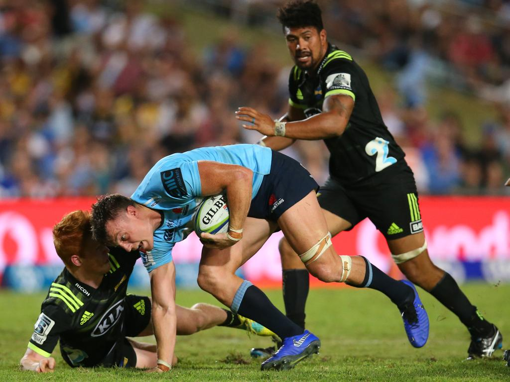 Jack Dempsey had some good moments for the Waratahs against the Hurricanes at Brookvale Oval. Picture: Getty Images