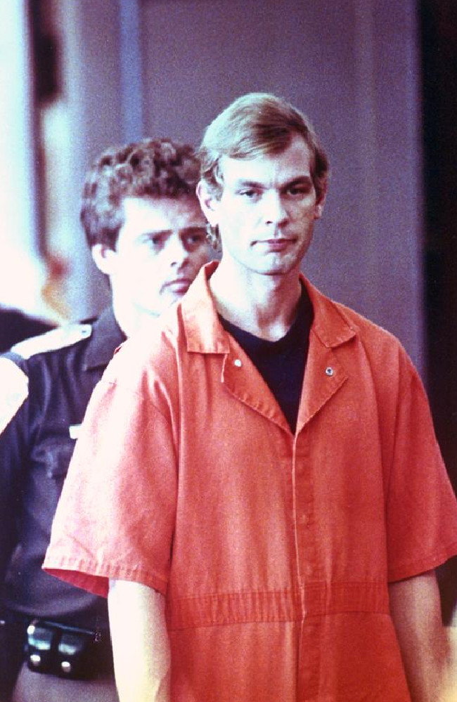 Accused serial killer Jeffrey L. Dahmer walks into the Milwaukee County Court on Tuesday, Aug. 6, 1991. Dahmer was charged with eight additional counts of 1st Degree Intentional Homicide. Picture: Eugene Garcia