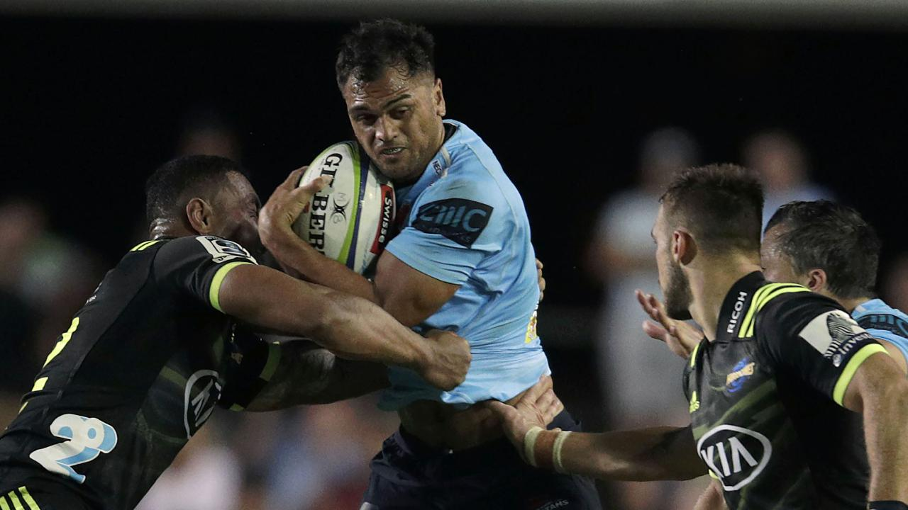 Karmichael Hunt impressed for the Waratahs against the Hurricanes. Picture: Getty Images