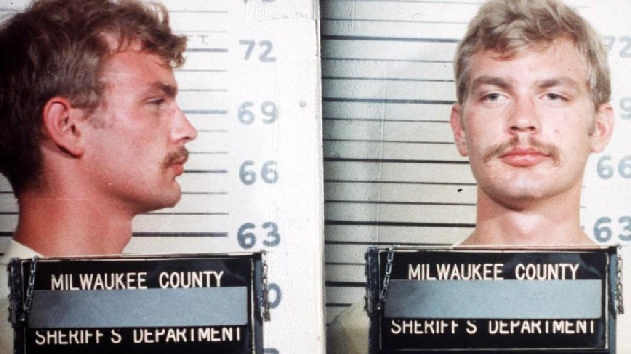 1982 Milwaukee county sheriff's department mugshot of serial killer Jeffrey Dahmer.
