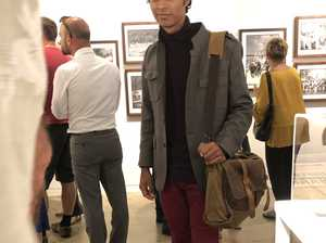 Kai Prikulis at the exhibition of the opening of The