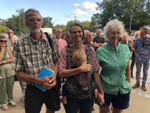 Hugh Nicholson with daughter, Terri, grandson, Marco