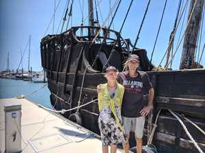 Striking 'pirate ship' pulls into Gladstone Marina