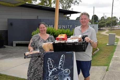 FREE FEED: Ainsley Walker and Greg Broad from the Leichardt One Mile Community Centre.