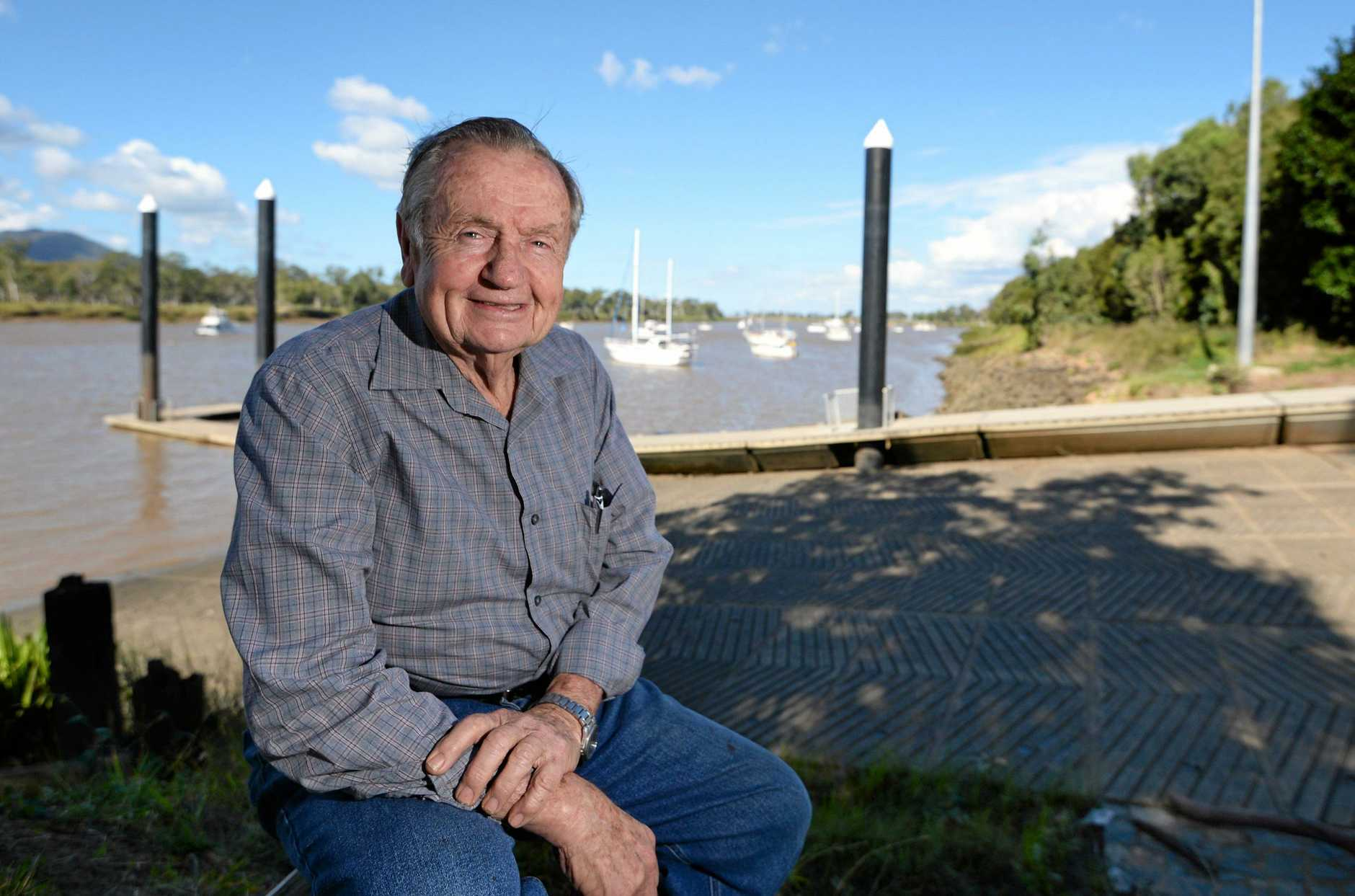 Merv O'Neill believes the proposed flood levee is a good idea which will benefit Rockhampton.