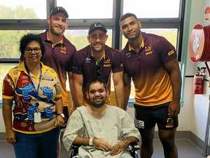 'HAPPIEST DAY OF MY LIFE': Broncos visit sparks tears of joy