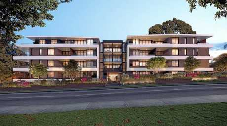 A concept design of 50 units to be made up of private, social and affordable housing in Tweed Heads.