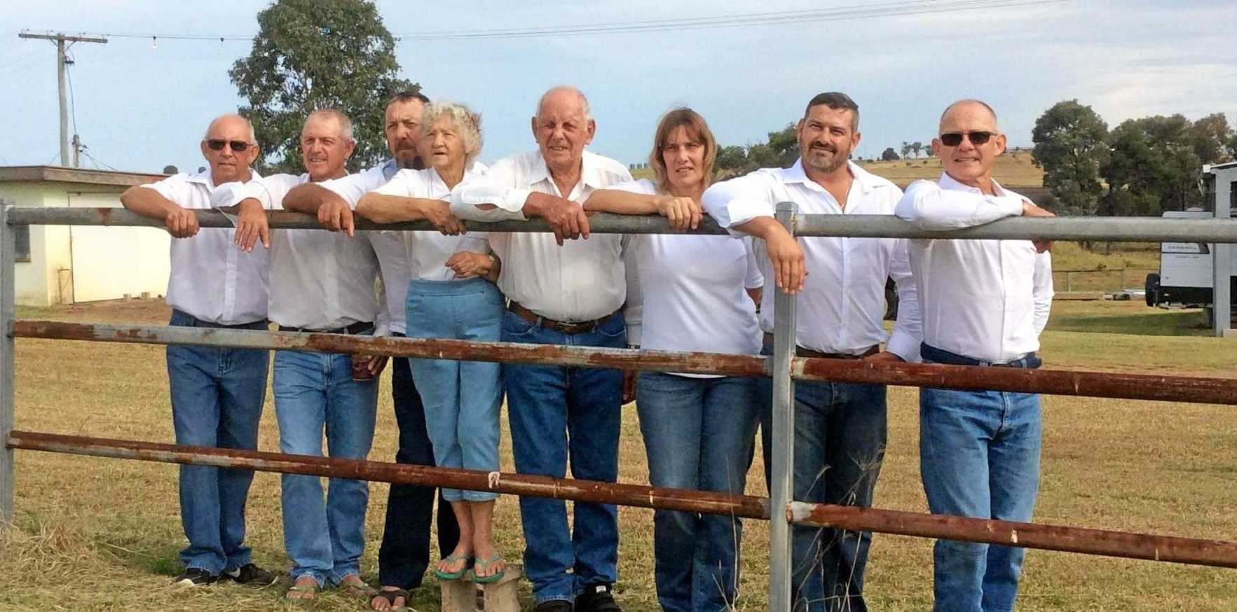 CELEBRATION: Joe and Lyle celebrated 60 years of marriage, with their six kids at the Avis farm.