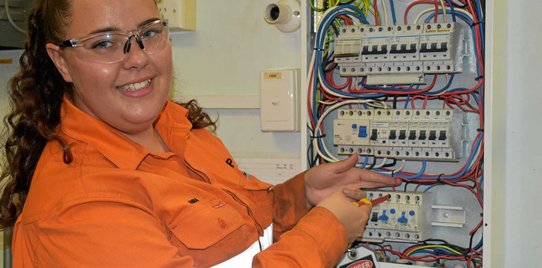 WAY FORWARD: Kyria Kemp is studying a TAFE Certificate III in Electrotechnology, as well as CQUni's Skills for Tertiary Preparation Studies (STEPS) course with a view to gaining entry into a Bachelor of Engineering.