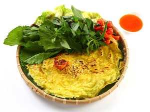 Crispy and vibrant flavoured Vietnamese pancake