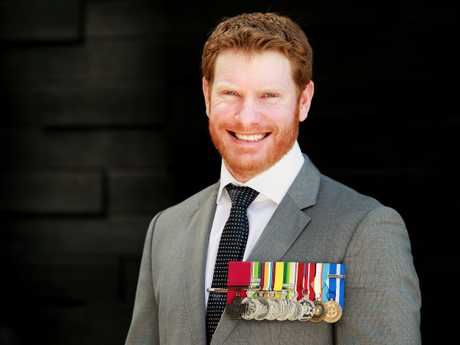 Daniel Keighran was awarded the VC for his actions at the Battle of Derapet. Picture: Claudia Baxter