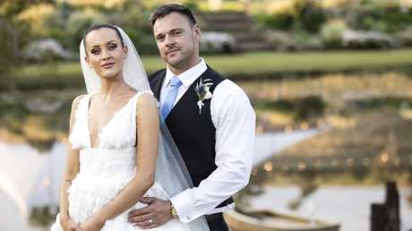 Ines and Bronson at their MAFS wedding. Picture: Supplied