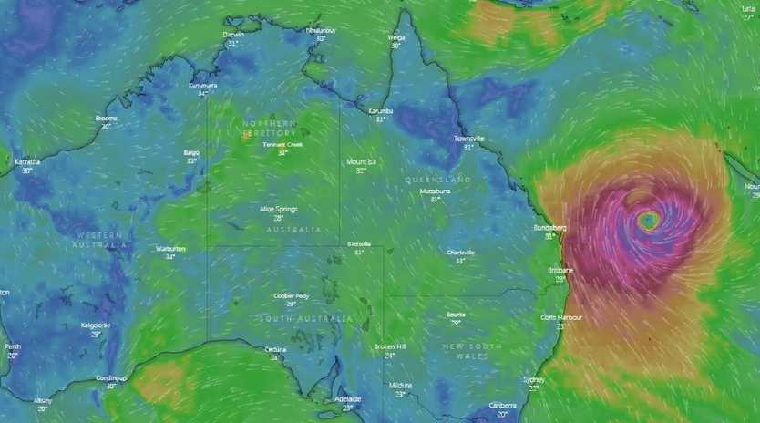 Queensland's southeast is already feeling the effects of Cyclone Oma.