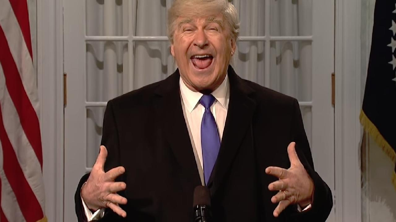 Alec Baldwin parodies Donald Trump on Saturday Night Live. Picture: Supplied