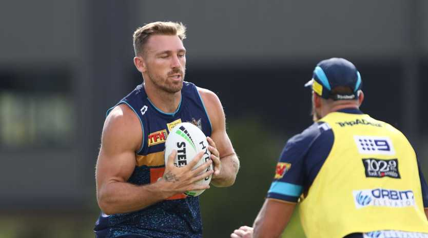 Gold Coast Titans' Bryce Cartwright during training at Parkwood on the Gold Coast. Photograph : Jason O'Brien