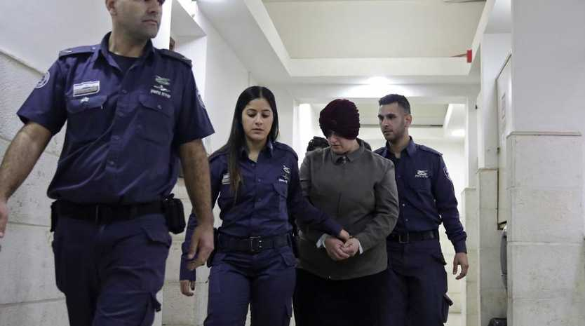 Malka Leifer is brought to a courtroom in Jerusalem. Picture: AP