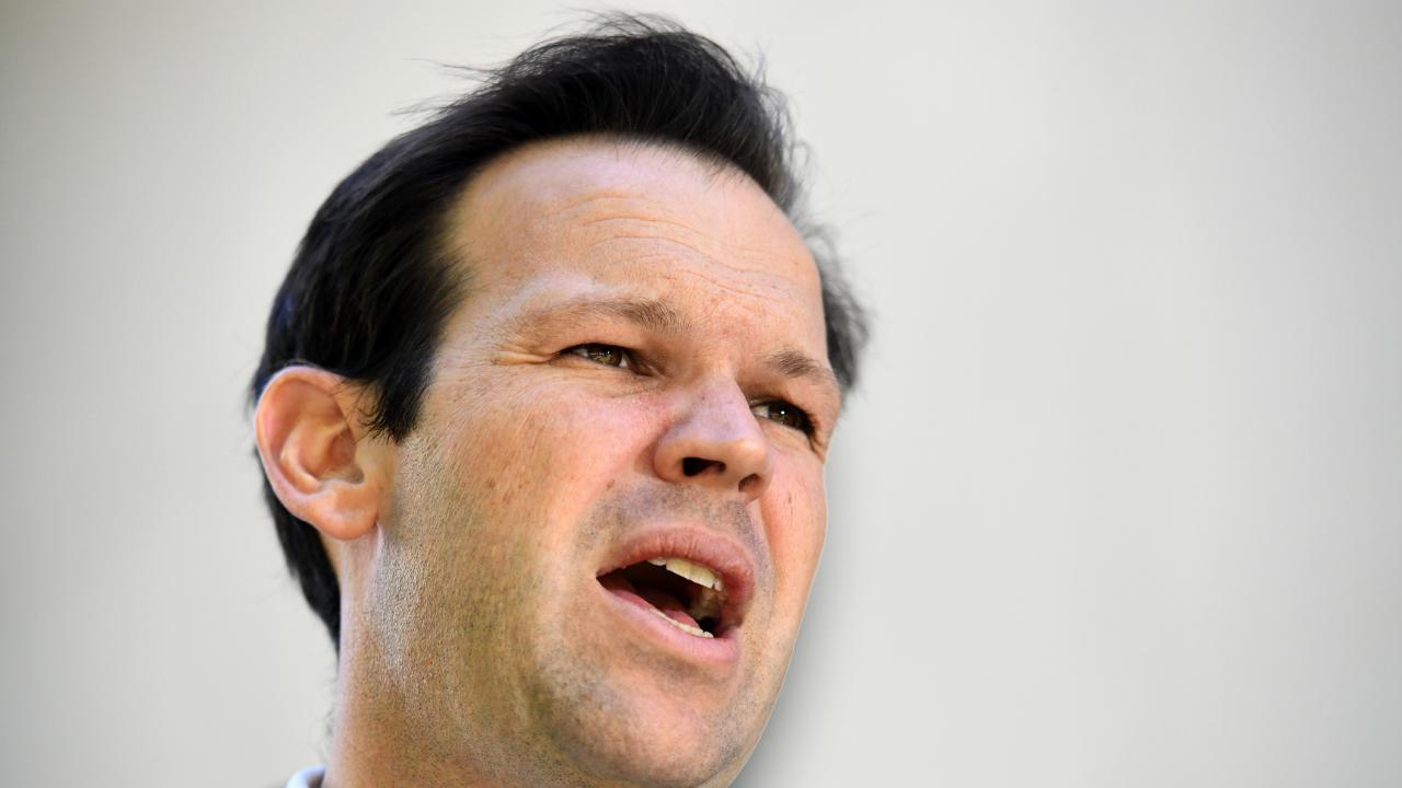 Minister for Resources Matt Canavan at a press conference at Parliament House in Canberra, Thursday, February 14, 2019. (AAP Image/Mick Tsikas)