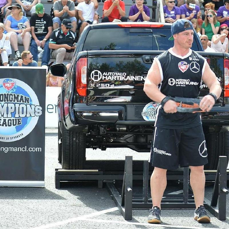 Soper competes in a Strongman competition. Picture: Instagram