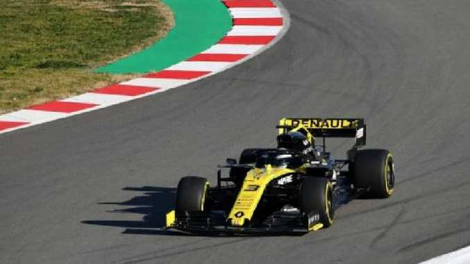 Daniel Ricciardo's Renault was built in time for the test despite some initial worries.