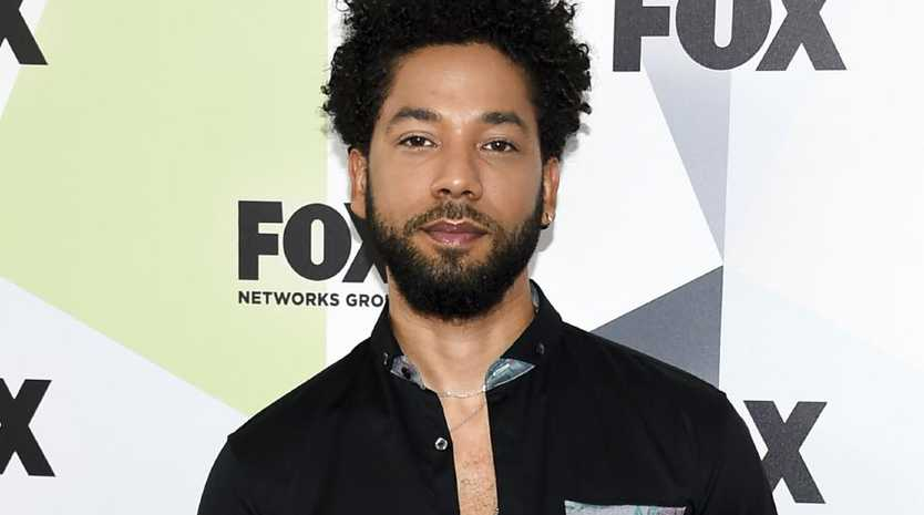 Actor-singer Jussie Smollett said he was attacked by two racist, homophobic Trump supporters but sources allege the attack was staged by two of Smollett's friends. Picture: Invision/AP