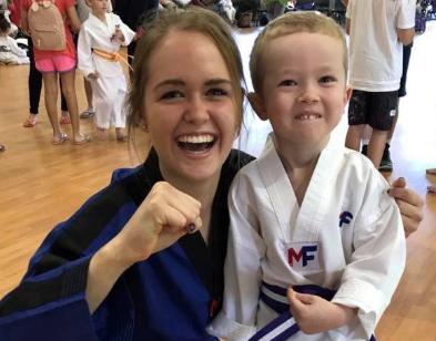 The martial arts class teaching kids more than martial arts