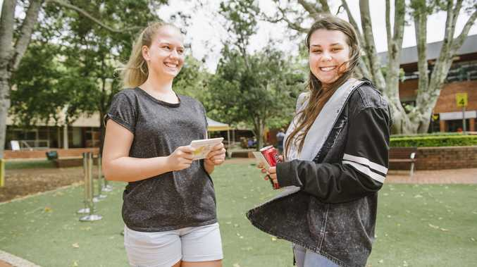 Taking part in last year's Orientation activities at USQ are Jannah Klein (left) and Courtney Coveney.