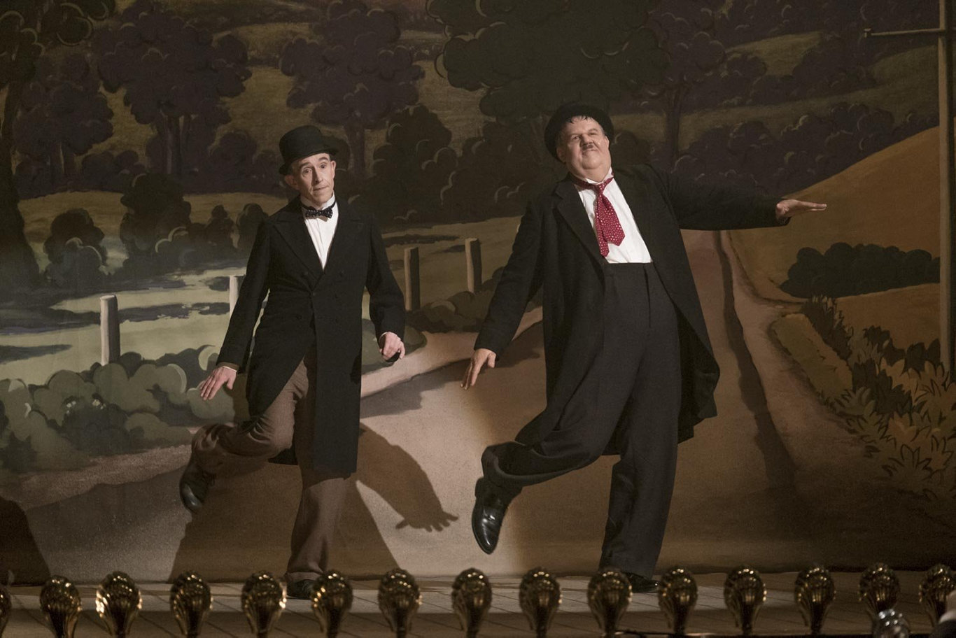 Steve Coogan and John C. Reilly in a scene from the movie Stan & Ollie.
