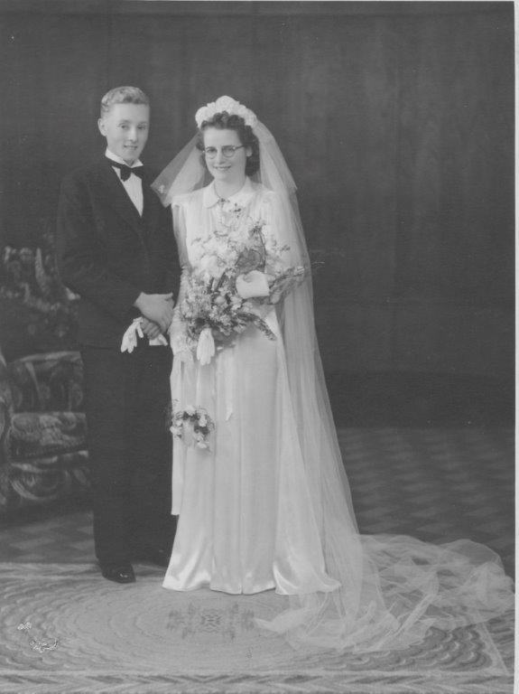 Alice Harrold on her wedding day.
