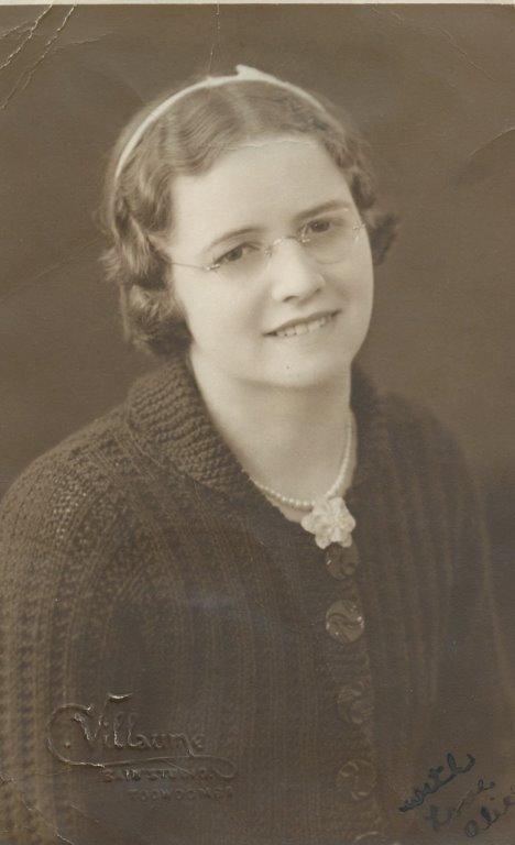 A portrait of Alice Harrold.