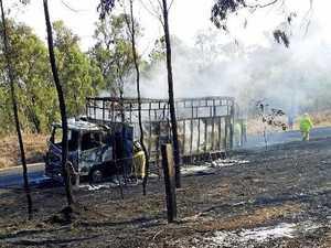 'LUCKY TO SURVIVE': Six horses escape huge trailer blaze