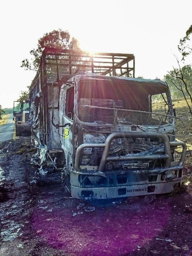 Karara Rual Fire Service attended a blaze that engulfed a horse trailer west of Allora at the weekend. Six horses and all human passengers were unharmed in the fire.