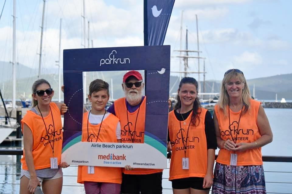 Airlie Beach parkrun volunteers.