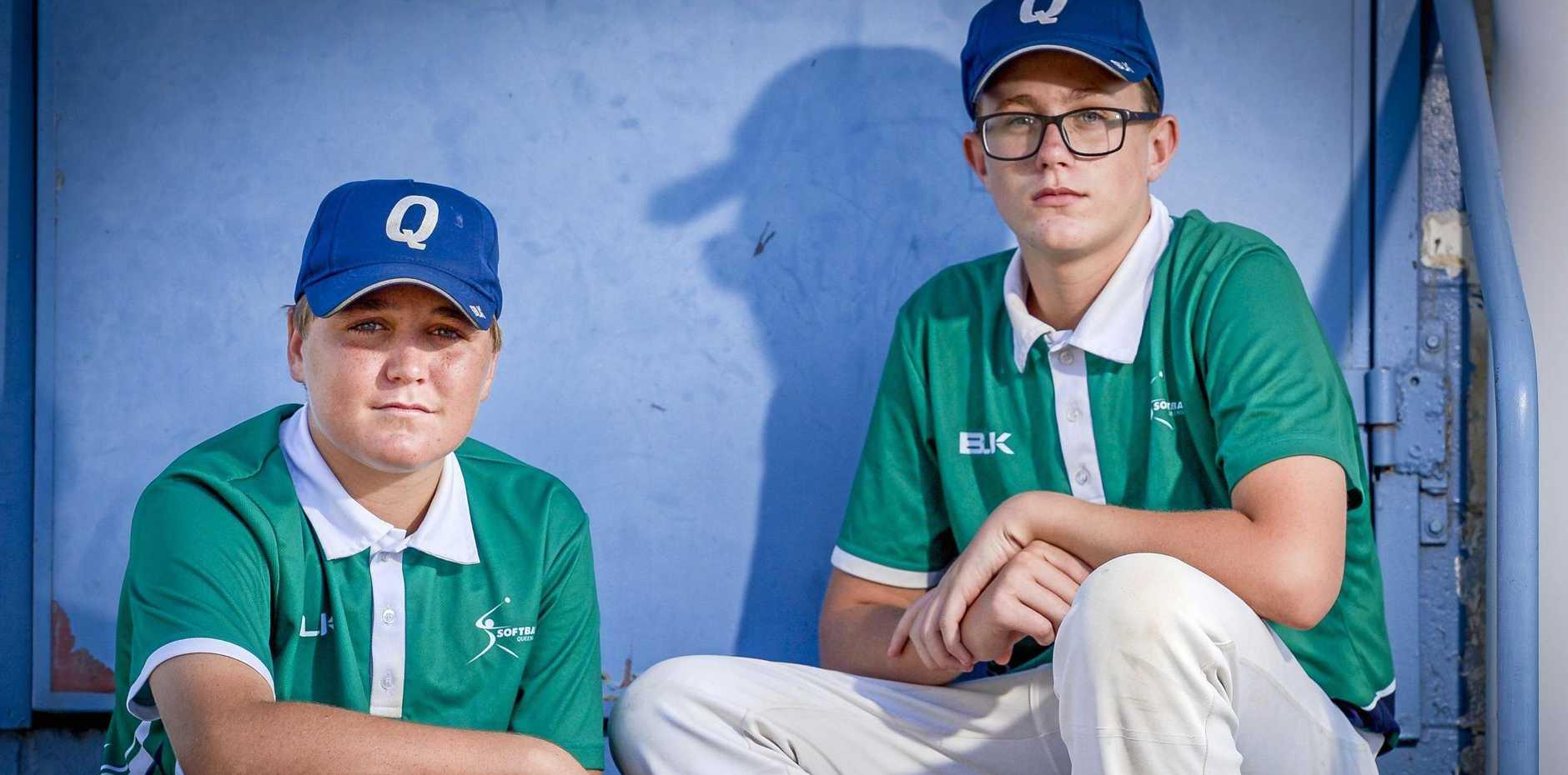Nick Gehrmann and Nick Noonan have both been selected to play Australian representative softball.
