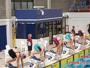It was a Sally and Seebohm swimming showdown in Brisbane
