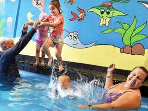 Swim school teaches flood safety tips