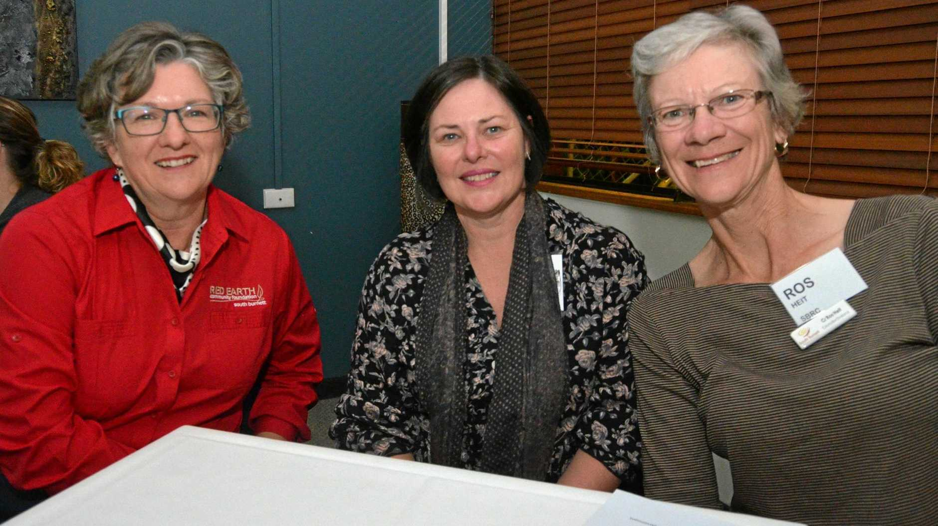 STRONGER BUSINESSES: Georgie Somerset, Melissa Barnett and Ros Heit at a previous Red Earth Community Foundation workshop.
