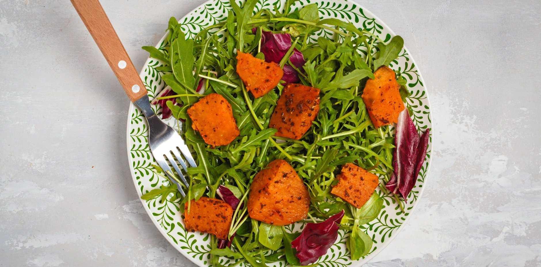Roast kumara salad.